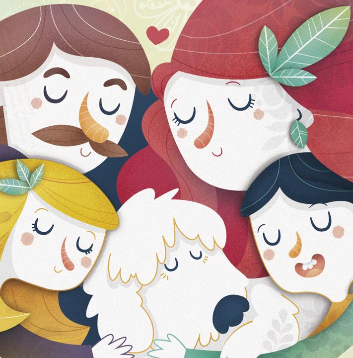 Ilustración infantil. Children's illustrations. El Convivenciario. Cuentos con valor.