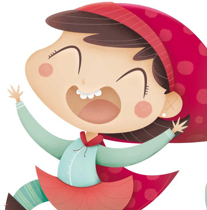 Ilustración infantil. Children's illustrations. Rita la Caperucita.