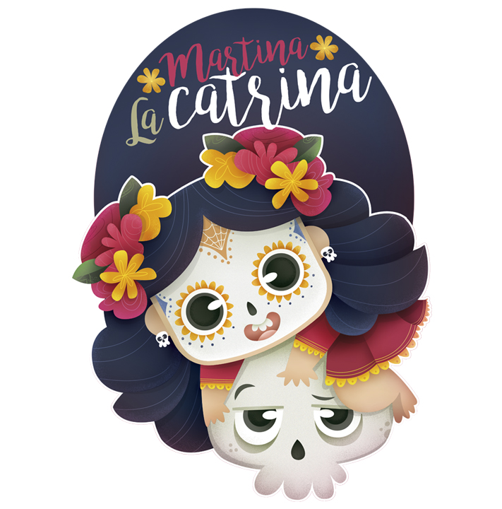 Ilustración infantil. Children's illustrations. Martina la Catrina.