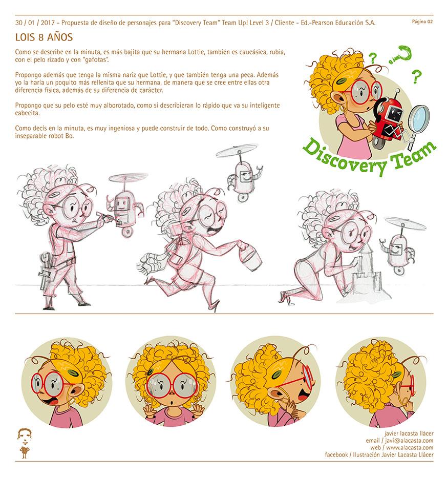 Diseño de personajes – Character designs / 8 a 10 años