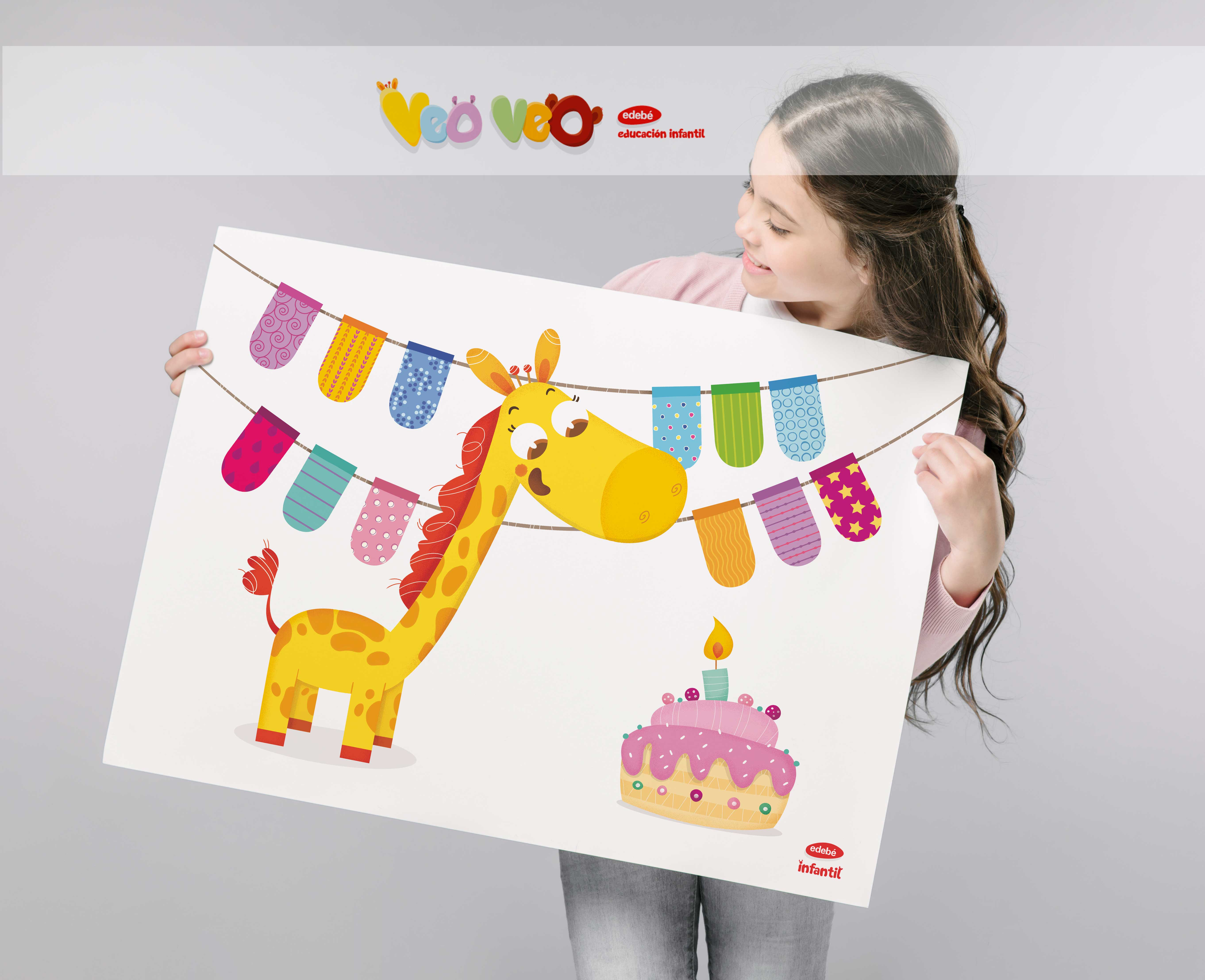mural_cumpleaños_nina_children_illustration_veo_veo