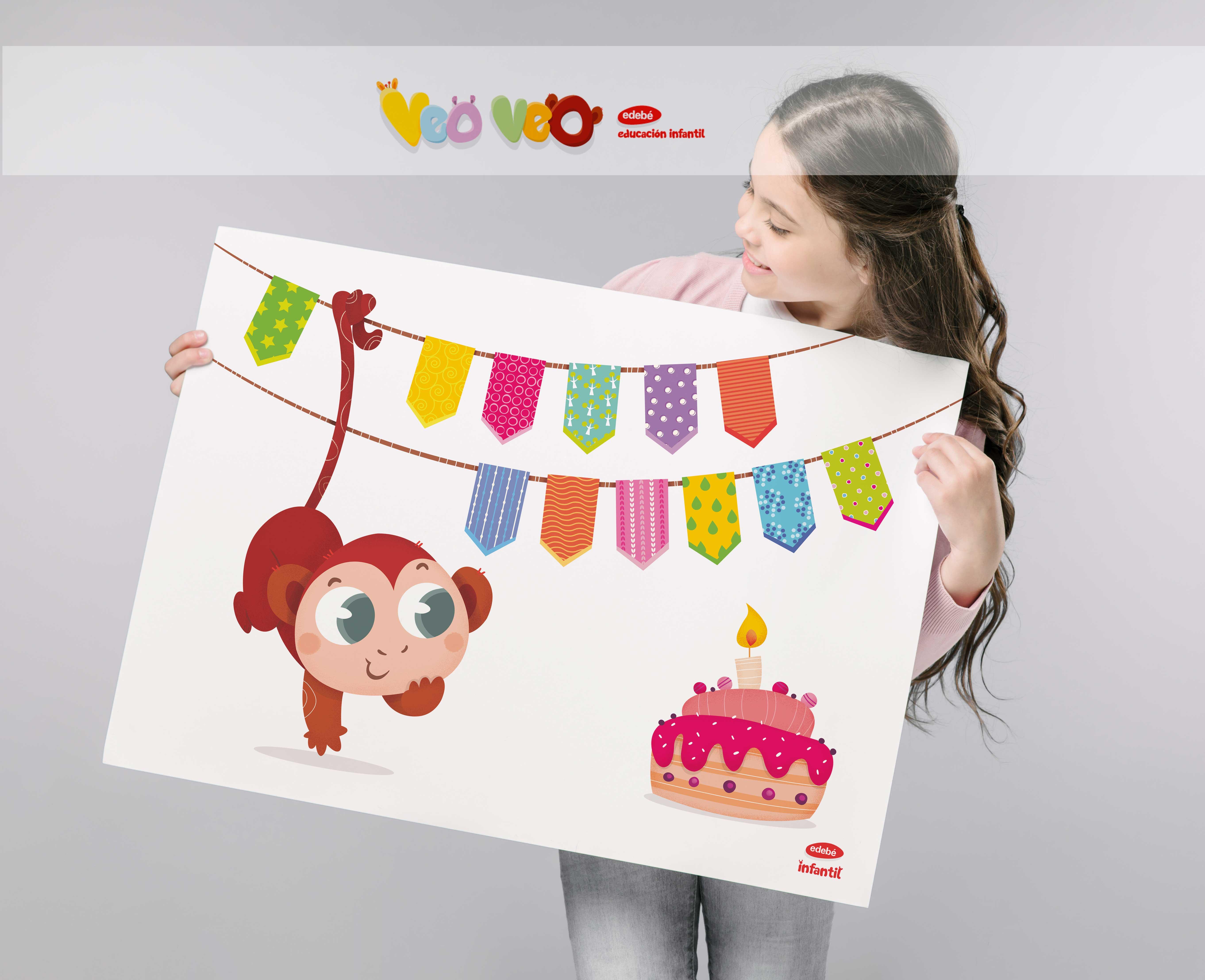 mural_cumpleaños_tico_children_illustration_veo_veo