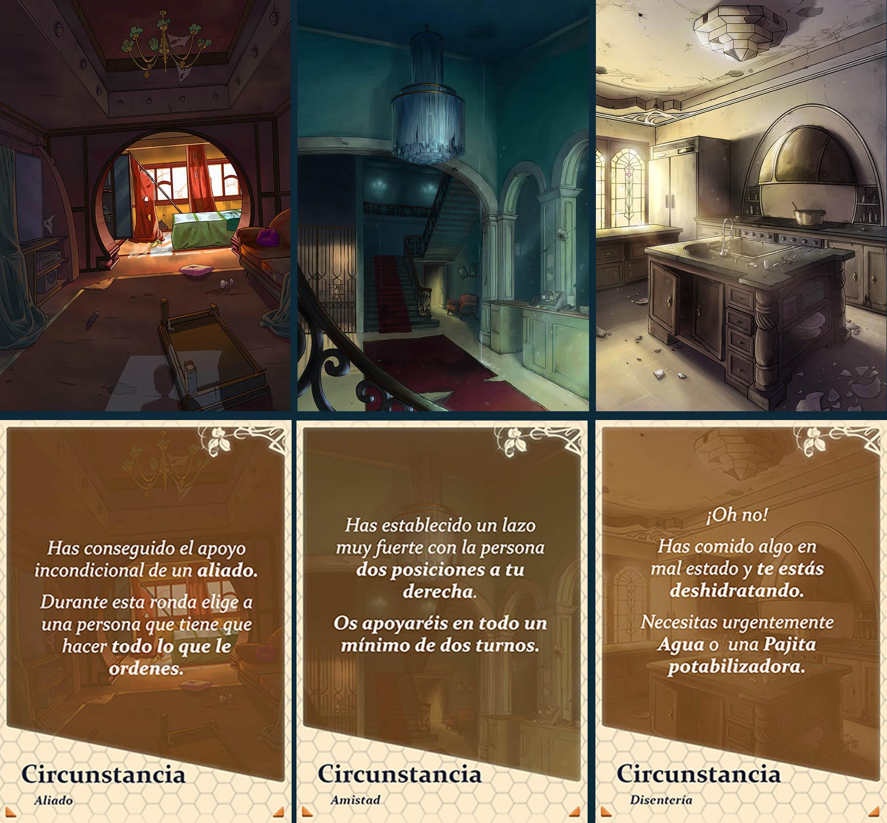 InOut: Gran Hotel Europa – Desarrollo visual juego de cartas