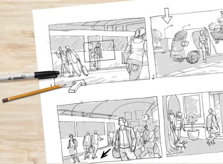 Story boards para publicidad y proyectos audiovisuales