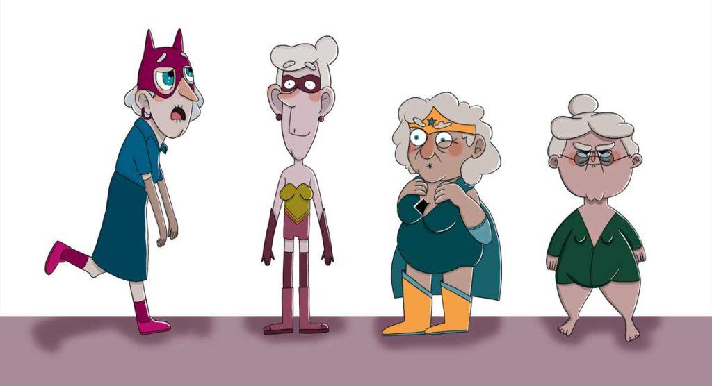 Superheroínas seniles